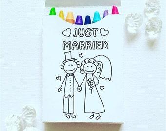 Wedding crayon boxes