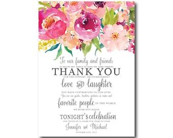 PRINTABLE Thank You Card, Printable Wedding Thank You Card, Wedding Thank You, Thank You Card, Thank You, Wedding Card #CL117