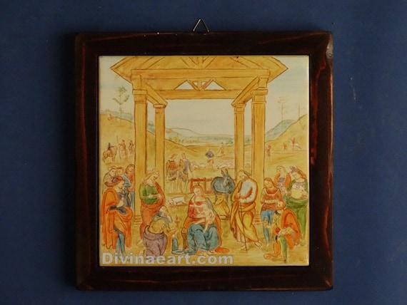 c eramiche legno antichizzato : ... ceramiche artistiche, mattonella dipinta, arte italiana, ceramica