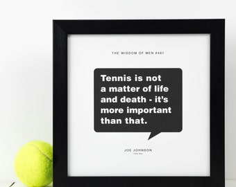 Personalised Tennis Print; Personalised Tennis Gift; Tennis Poster; Gift For Husband; Gift For Boyfriend; PAP103