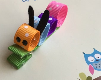Caterpillar Sculpture Hair Clip