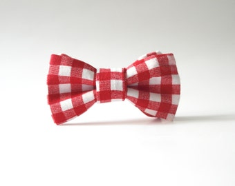 Picnic Red Bow Tie
