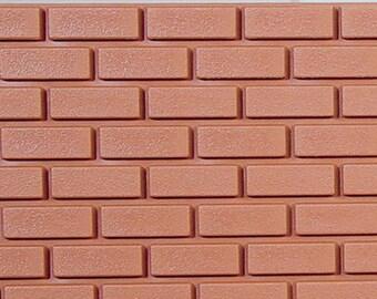 "DOLLHOUSE MINIATURES 1:12 Scale 1"" Plastic Wall Brick #HW8206"