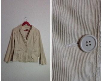 Corduroy Beige Jacket Womens,Medium Size