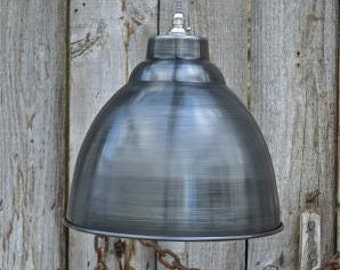 Industrial aged steel ceiling light shade DSSR4