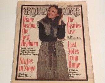 Vintage 70s Rolling Stone Magazine June 30th 1977 Issue NO. 242 Diane Keaton and The Beatles