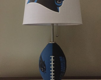Carolina panthers football lamp. Nfl sports team. Made by thatlampguy