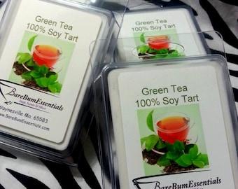 Green Tea Soy Tart Melts, Wax Tarts,  Soy Melts Wax Tarts, Scented Soy Wax Melts, Soy Tarts, Soy Melts, Wax Tarts, Candle Melts