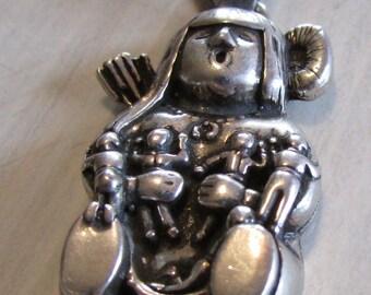 Sterling Silver Story Teller Pendant