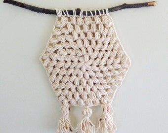 Minimalist Crochet Wall Hanging