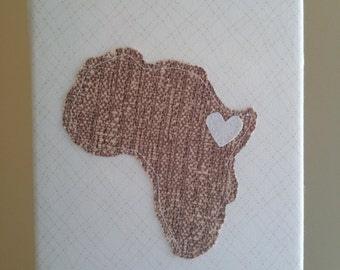 Africa Canvas Honoring Ethiopia Adoption | Customizable