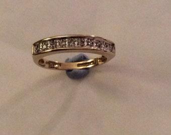 Diamond half eternity ring in 9ct yellow gold