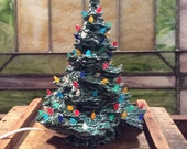 Vintage Ceramic Christmas Tree, Tampa Bay Mold Co Ceramic Tree, Christmas Decor, Light Up Tree, Ceramic Christmas Tree