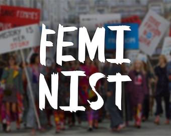 FEMINIST Vinyl Decal