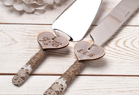 personalized cake serving set cake servers by inesesweddinggallery. Black Bedroom Furniture Sets. Home Design Ideas
