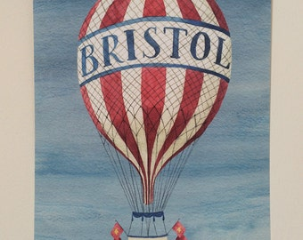A4 Giclee Print 'Bristol Balloon' Illustration - Signed and Editioned