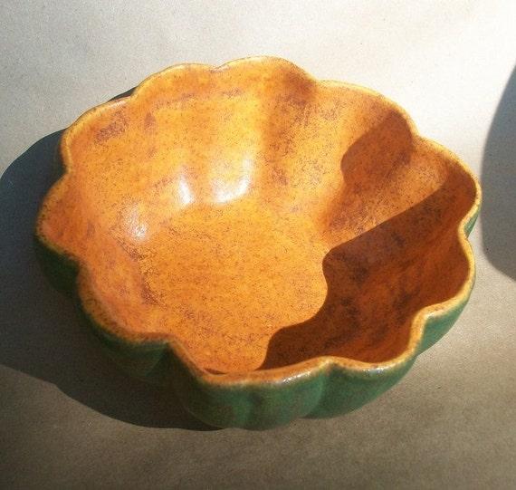 Acorn Squash Bowls -- Handmade bowl for soup, nuts, olives...., Food Safe Desert Pine/Pumpkin Spice Glazes