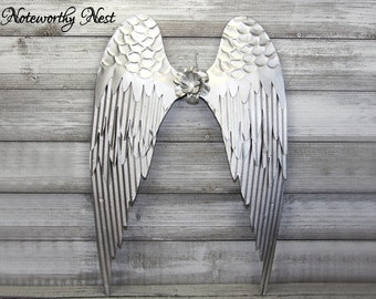 Metal Angel Wings Wall Decor Etsy