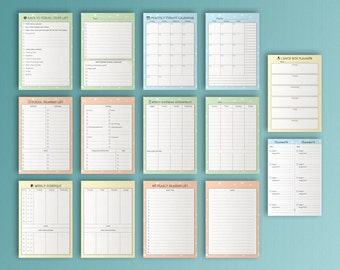 "BACK TO SCHOOL A5. (5.8"" x 8.3"") Printable pdf filofax Inserts. Homework Lunchbox Planner. School Supplies. 14 Sheets"