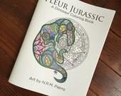 Fleur Jurassic- A Dinosaur Coloring Book