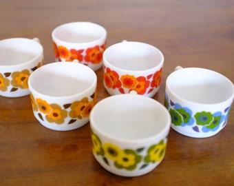Coffee cups, vintage seventies