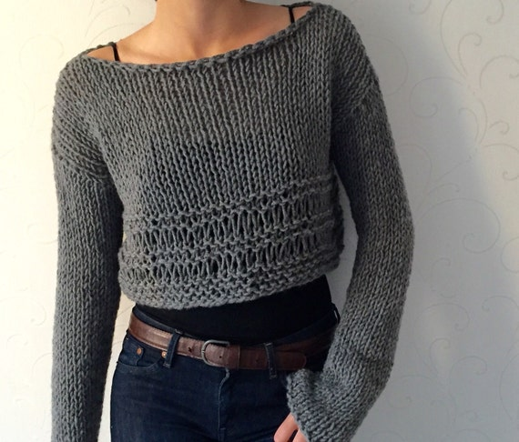 Crop Top Knit Sweater