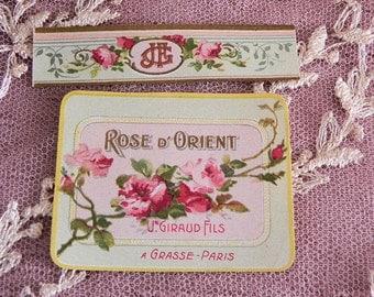 antique Perfume label, ROSE D'ORIENT, 1900s