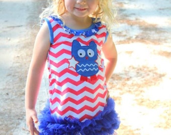 Owl Patriotic Dress