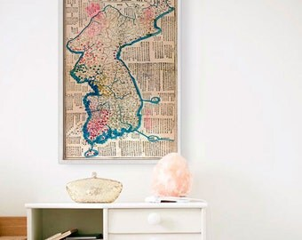 """Map of Korea 1822, Old Korea map, 4 sizes up to 36x54"""" (90x140 cm) Historical map of South Korea, North Korea - Limited Edition - Print 13"""