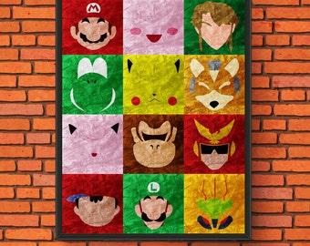 Super Smash Minimalism Print