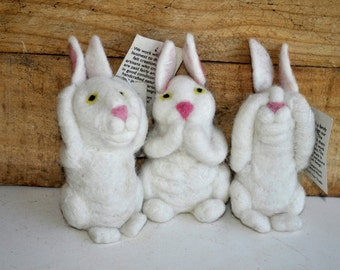 Hear no, See no, Speak no evil Bunnies