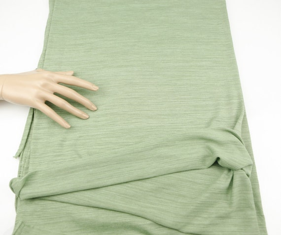 Heather Sage Green Knit Jersey Fabric By The Yard ATK00193