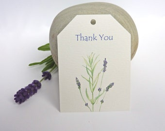 Lavender Sprig traditional, rustic Thank you/favour/gift tags - pack of 10