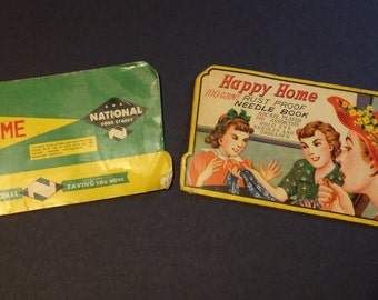 Vintage Sewing Needles Kit Advertising Ads Japan National Food Stores Happy Home