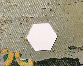 """1/2"""" Hexagons - English Paper Piecing by All Quilty Choose Package Size"""