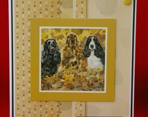 Happy Birthday Cocker Spaniels 3d Card - Featuring Cocker Spaniels by Pollyanna Pickering - Handcrafted in the UK