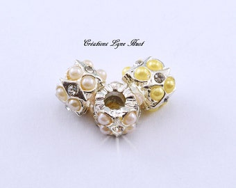 Choose 1, 3  or 5 European style charm beads tibetan silver, Two colors available !
