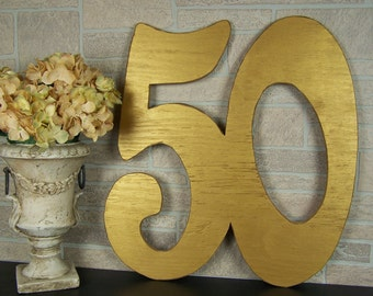 50th Anniversary Guest Book Alternative Wedding Anniversary Gift For Parents 50th Birthday Party Decorations Large Wooden Numbers Sign