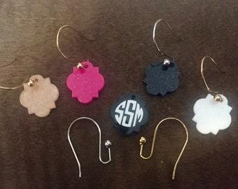 Moroccan Quatrefoil Monogram Earrings