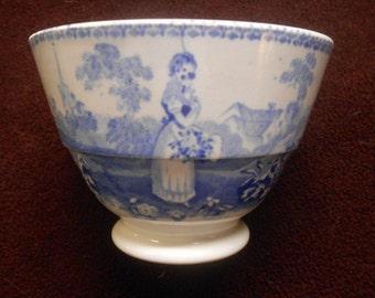 Blue Transferware Teacup