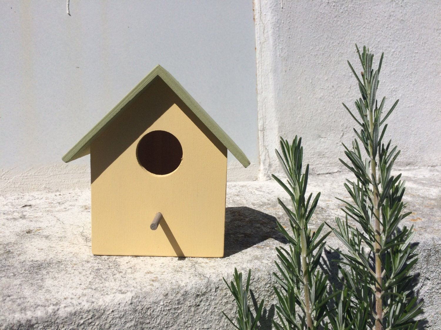 Bird House Small Hand Painted In Pastel Colors By Happysardine