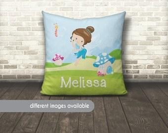 Fairy Pillow, Fairies Pillow, Fairy Garden Pillow, Fairies Pillow, Kids Name Pillow, Kids Name Fairy Pillow, Butterfly Name Pillow