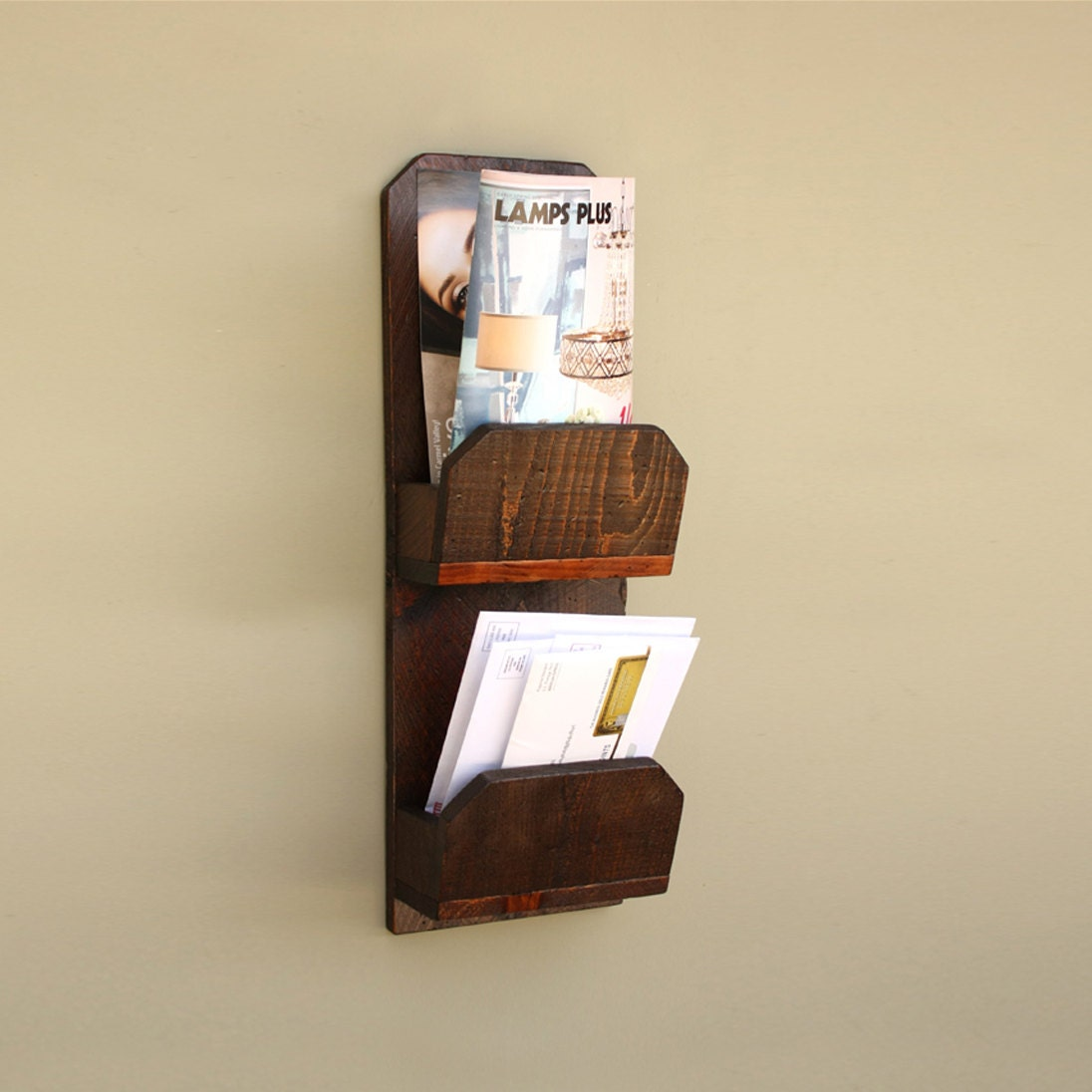 wall mail organizer wood mail holder wooden gifts. Black Bedroom Furniture Sets. Home Design Ideas