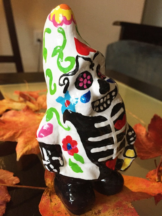 Day of the Dead Garden gnome Fiona 5.5 inches