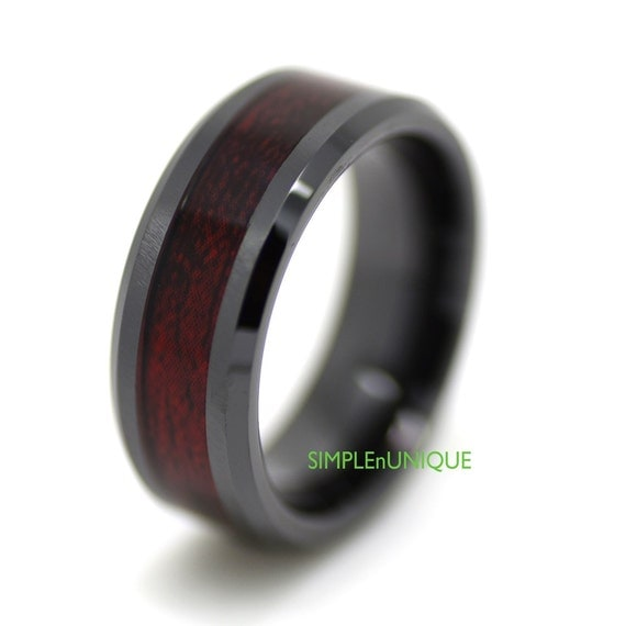 ceramic ring mens wedding band mens ring promise by. Black Bedroom Furniture Sets. Home Design Ideas