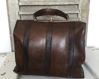 SALE- Vintage Gladstone Bag