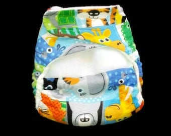 pocket all-in-one cloth diapers- Jungle Fun