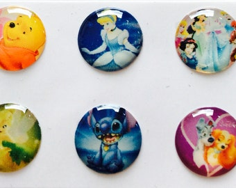 Set of 6 IPhone 3 4 4s 5 5c 5s 6 iPod Touch  iPad Air Princess Home Buttons Set of 5