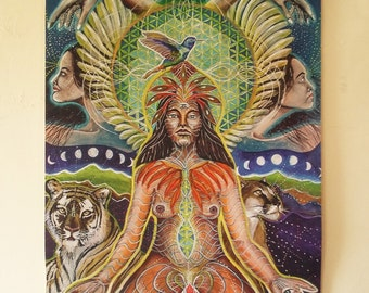 Tapestry*Coming Back home*,visionary art