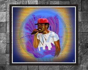 Chance The Rapper Hip Hop, Rap, Wall Art Photo Print Portrait Poster